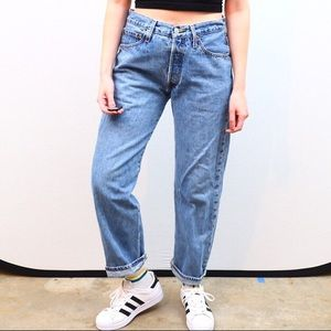 Vintage high waisted Levis 501 jeans